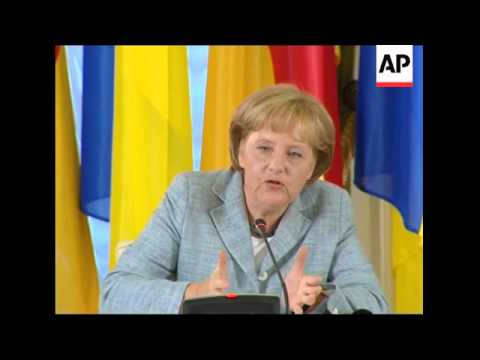 Chancellor Merkel presser, comment on Gaza and NATO