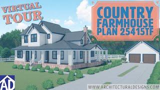 Architectural Designs Country Farmhouse Plan 25415tf Virtual Tour
