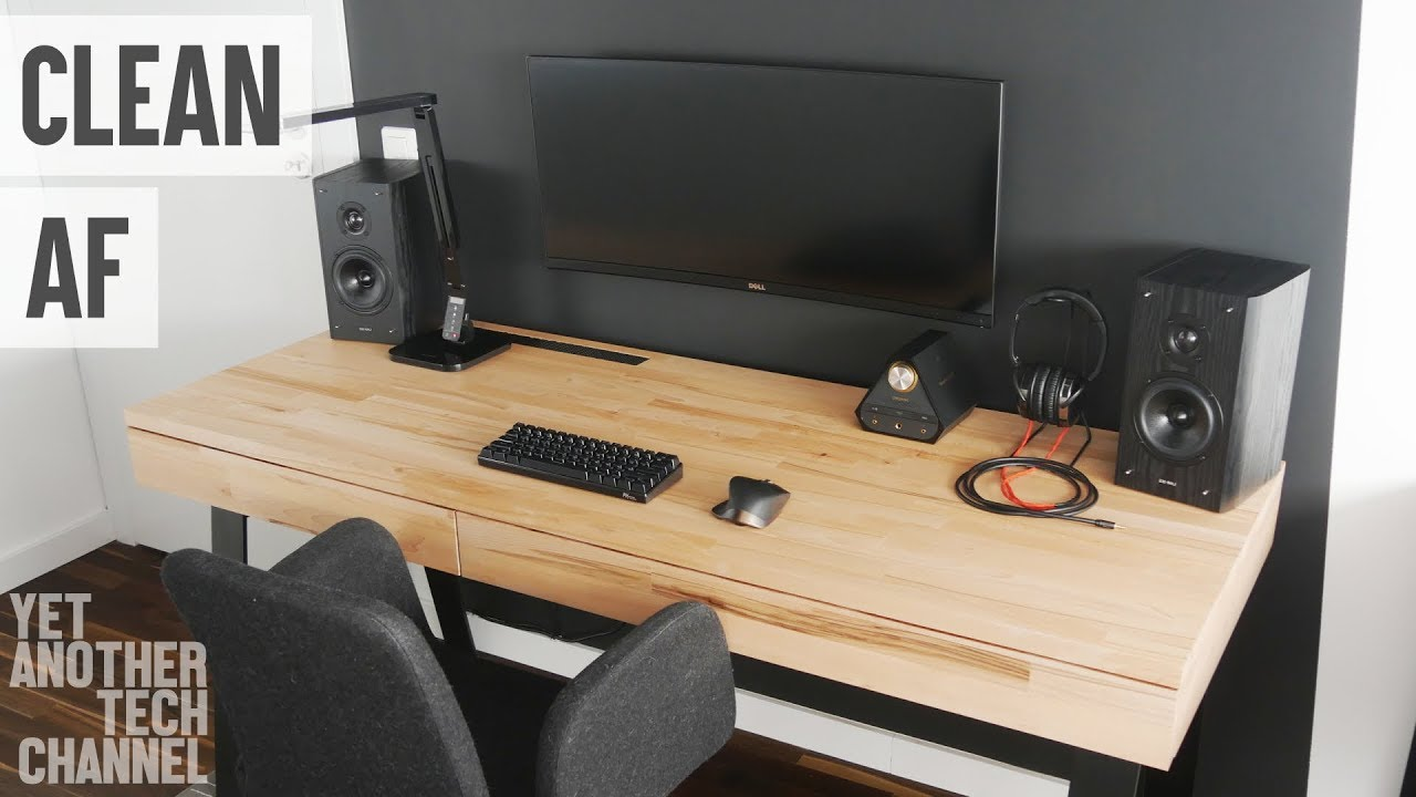 - Highly Minimal Desk PC Setup Tour - YouTube