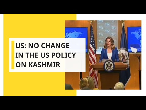 US: No change in the US policy on Kashmir