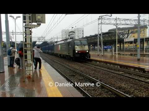 Freight trains in the Milan node
