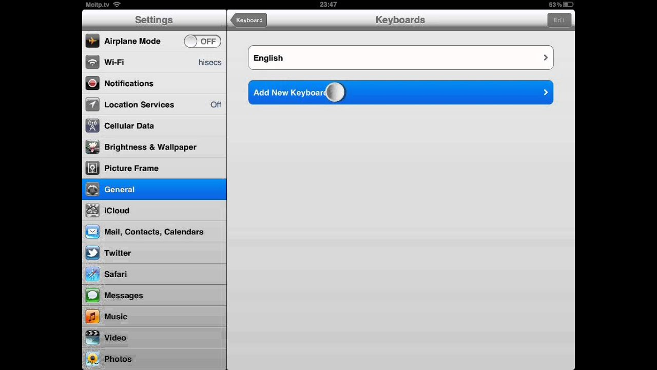 how to add chinese traditional handwriting keyboard to ipad ios 5 youtube