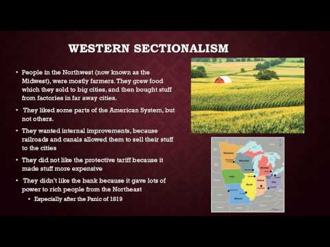 The Era of Good Feelings the beginning of sectionalism