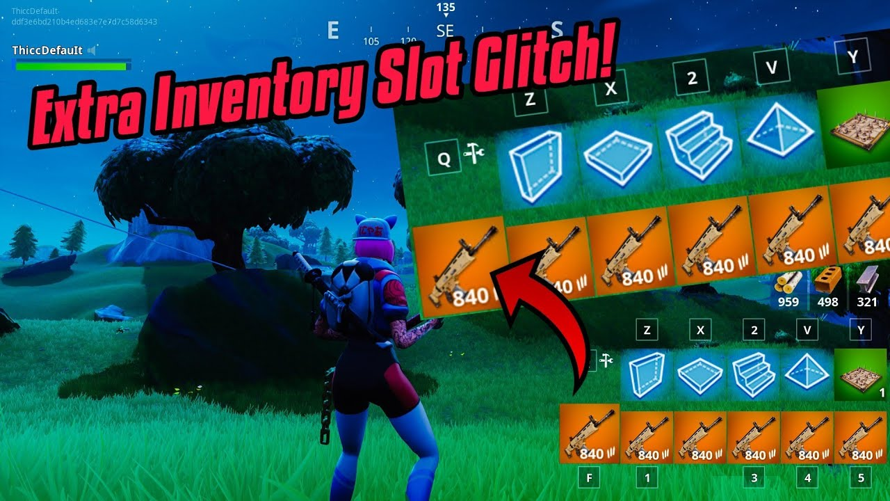 How To Get Extra Inventory Slot In Fortnite New Fortnite Glitches Season 7 Ps4 Xbox Youtube