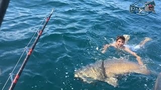 Goliath Grouper Fishing Video - Biggest Fish Of His Life! Saltwater Fishing Big Fish - Ocean Fishing