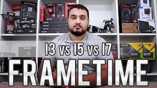 Análise de FRAMETIME - I3 vs I5 vs I7 com GTX 1060 e RX 480