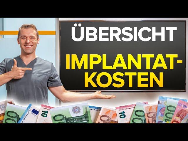Was kosten ZAHNIMPLANTATE? komplette KOSTENÜBERSICHT für alle Implantatversorgungen ✅