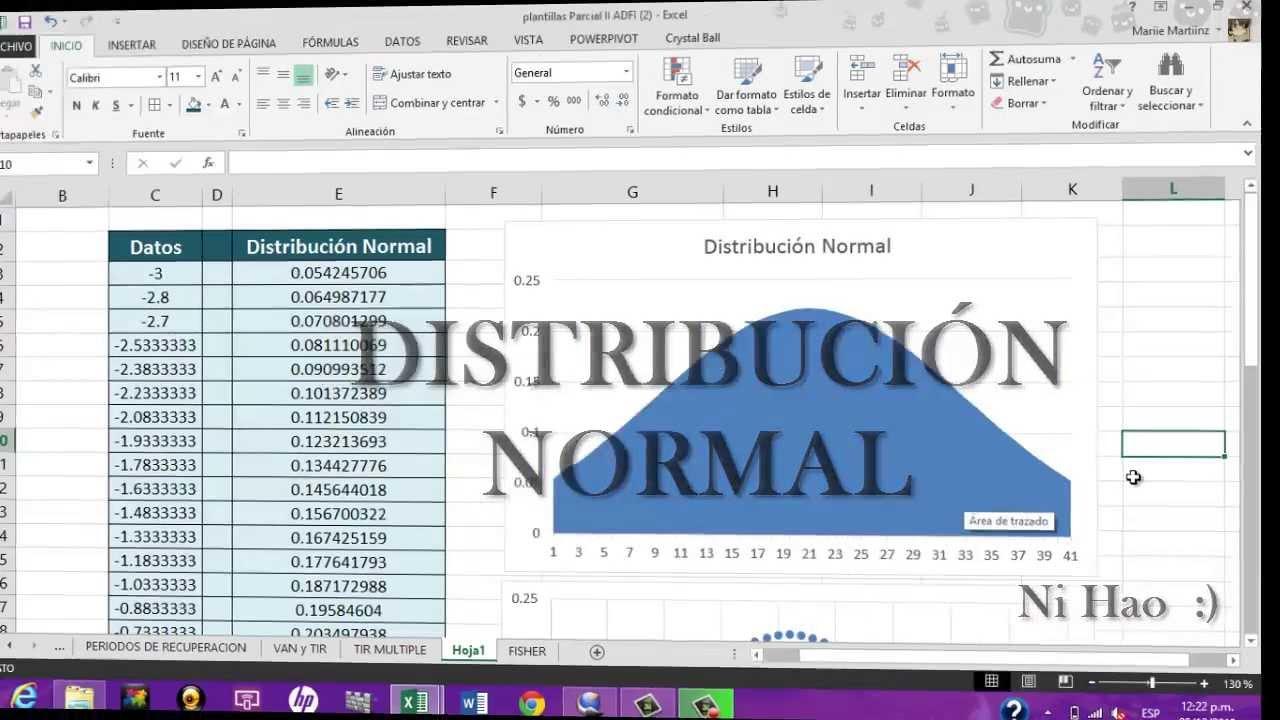 Grafico de Distribución Normal en Excel 2013/2010!!!! - Fácil! Con ...
