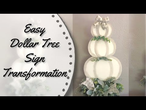 Dollar Tree Sign Transformation |  Fall Dollar Tree DIY