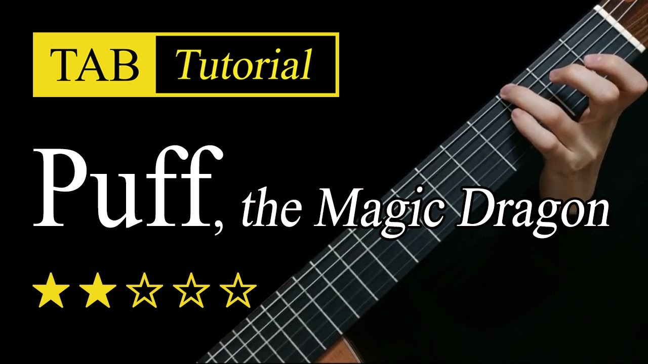 Puff, the Magic Dragon - Fingerstyle Lesson + TAB