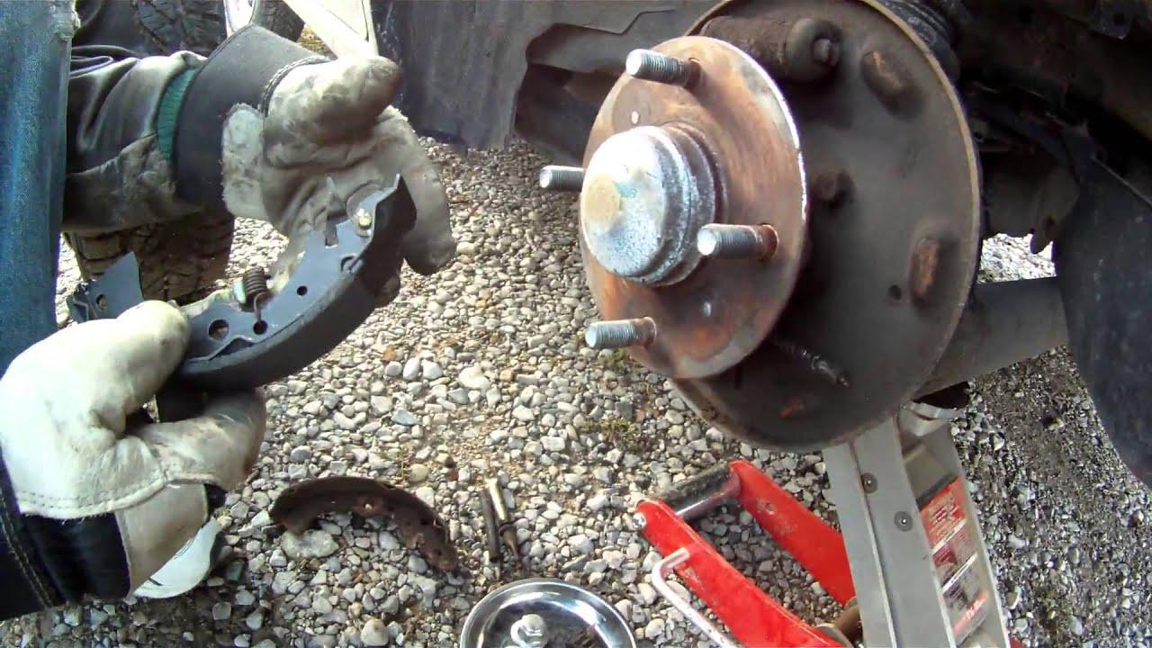 medium resolution of rear brake shoe replacement