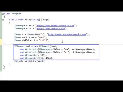 LINQ To XML Namespaces And Names