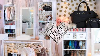 DIY Bookcase Closet & Sequin Hangers