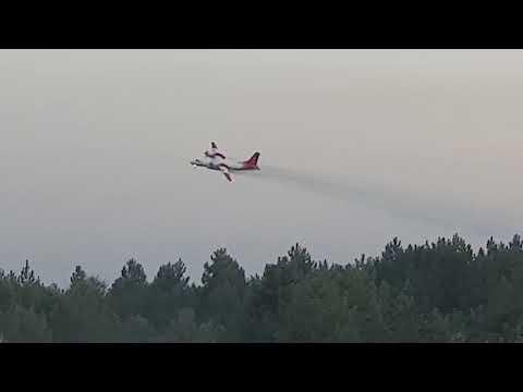 У Голопристанському районі Херсонської області підрозділи ДСНС проводять гасіння лісової пожежі