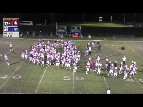 Southern Virginia University Football Vs Christopher Newport