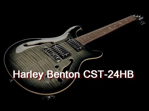 Harley Benton CST-24HB Charcoal Flame #1