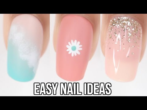 EASY nail ideas! summer nail art