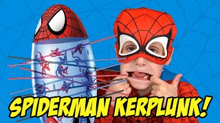 Spiderman Games - Kerplunk Spiderman Drop Edition - Family Game Night and Toys Video by KidCity