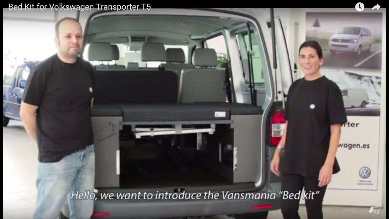Bed Kit For Volkswagen Transporter T5 Youtube