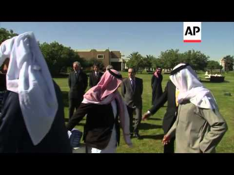Britain's Prince Charles meets senior members of the Saudi royal family