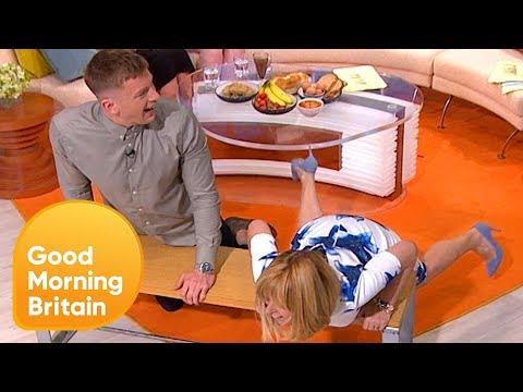 Olympic Gold Medalist Adam Peaty Teaches Kate Garraway How to Swim | Good Morning Britain