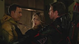 Arrow | Crisis on Earth-X | Prometheus-X Dies, Dark Arrow and Reverse Flash Threaten Each Other |