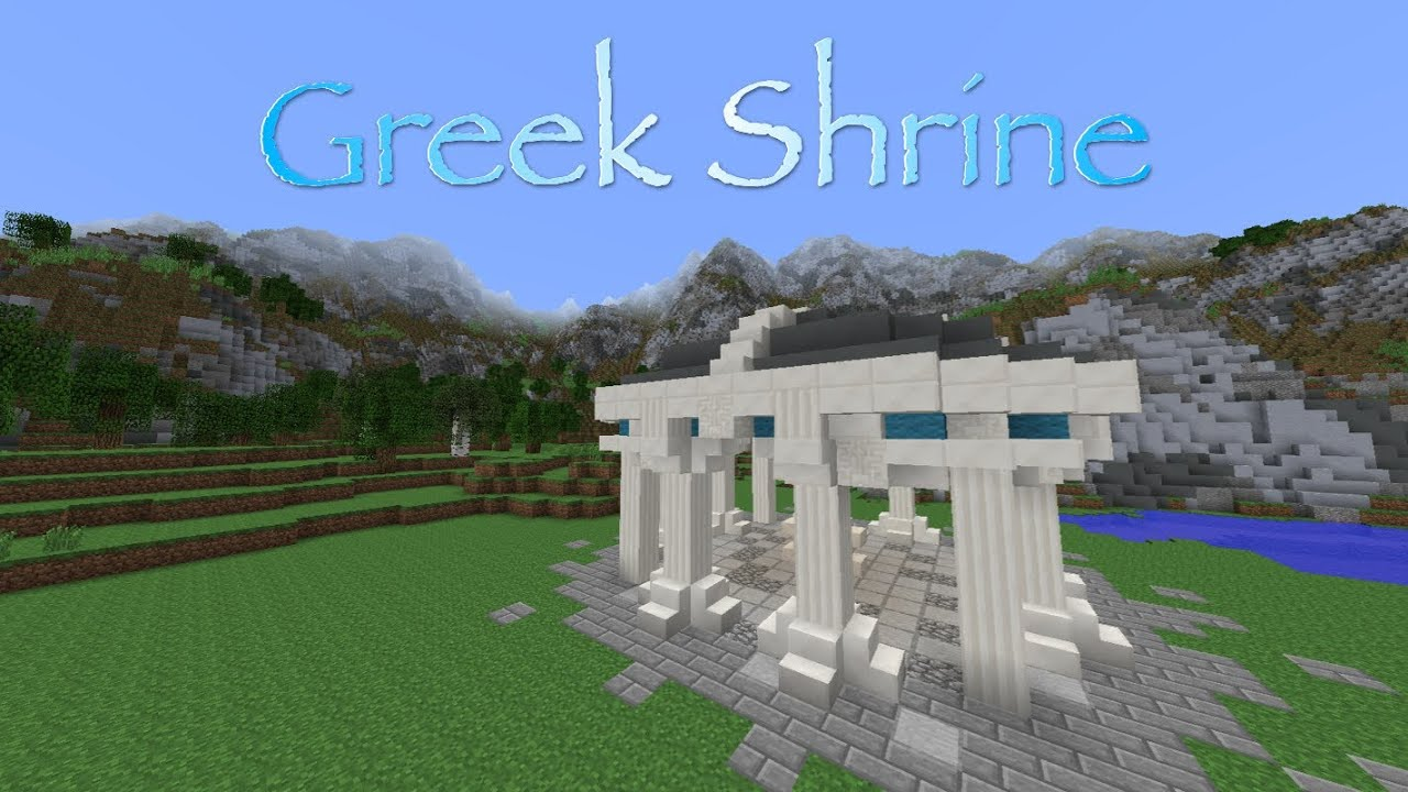 Greek Architecture Minecraft minecraft tutorial - greek shrine - youtube