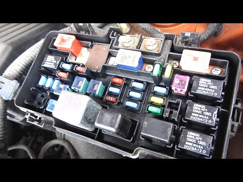 Honda Element Fuse Box Description  YouTube