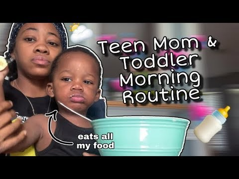 my morning routine with a toddler at 17 ♡  | Teen Mom