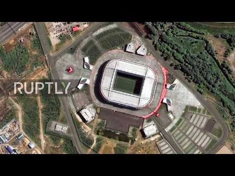 Russia: Satellite images reveal the 12 stadiums of 2018 World Cup