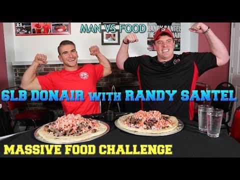 WORLDS BIGGEST Donair Challenge With RANDY SANTEL! Alexandra's Pizza Sydney NS