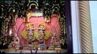 hare rama hare krishna iskcon temple vrindavan aarti