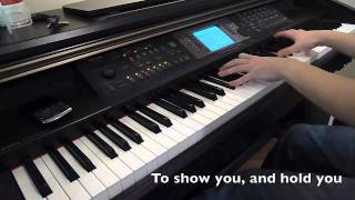 Eenie Meenie - Sean Kingston and Justin Bieber (Piano Cover) with LYRICS