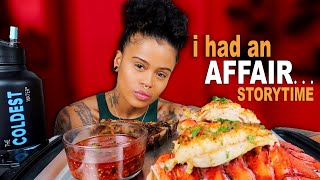 HUGE LOBSTER TAILS & STEAK SEAFOOD MUKBANG + MY JAMAICAN AFFAIR STORYTIME