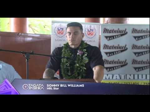 NRL Superstar Sonny Bill Williams Visits Samoa