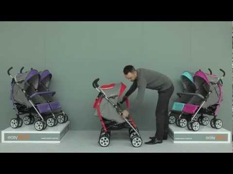 видео обзор прогулочной коляски для двойни Easygo Duo Comfort