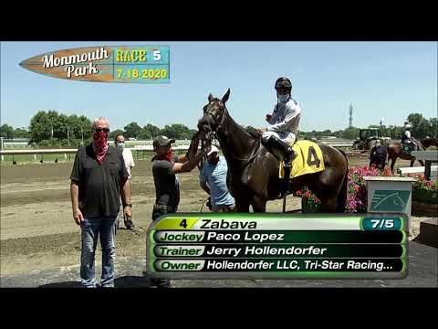 video thumbnail for MONMOUTH PARK 07-18-20 RACE 5