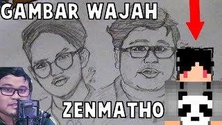 MENGGAMBAR WAJAH ASLI ZENMATHO | SpeedArt
