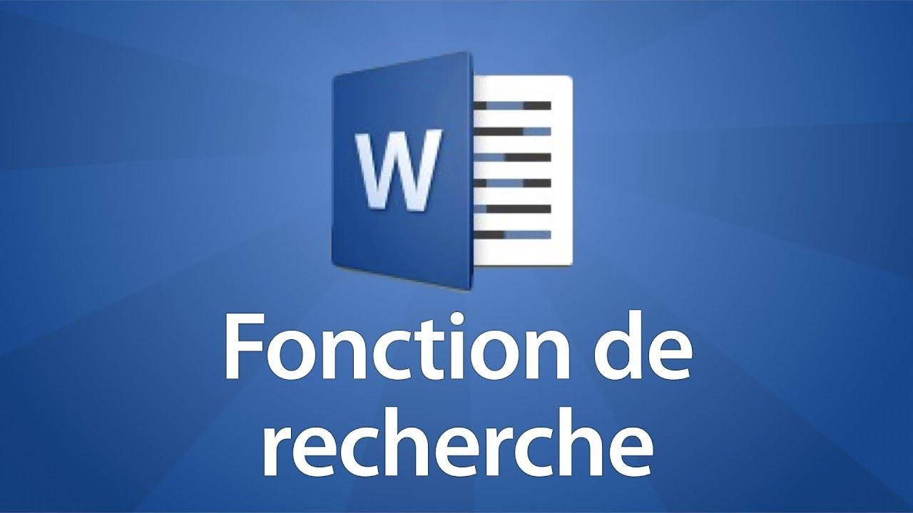 Word 2016 - Utiliser la fonction de recherche