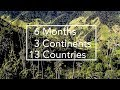 6 Months, 3 Continents, and 13 Countries