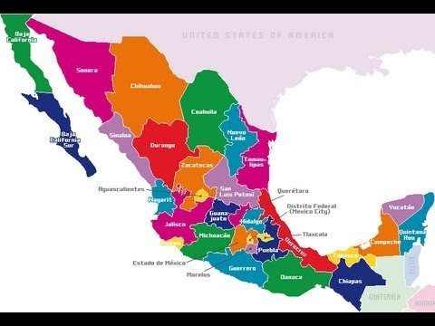 LSM El mapa de mxico con nombres y seas  YouTube