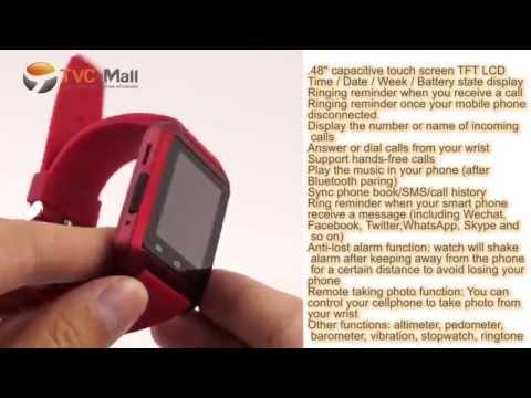 TVC Mall: Smartwatch Review Bluetooth Smart Wristwatch U Watch Hands-on Review