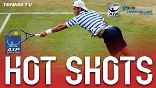 Watch Hot Shot as Feliciano Lopez channels his inner Boris Becker w...