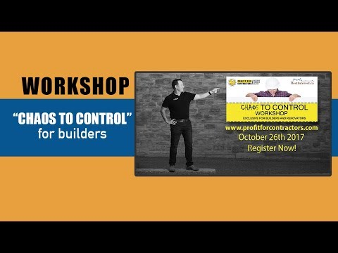 (Suppliers Panel) Chaos to Control Workshop for Builders in Ottawa, ON