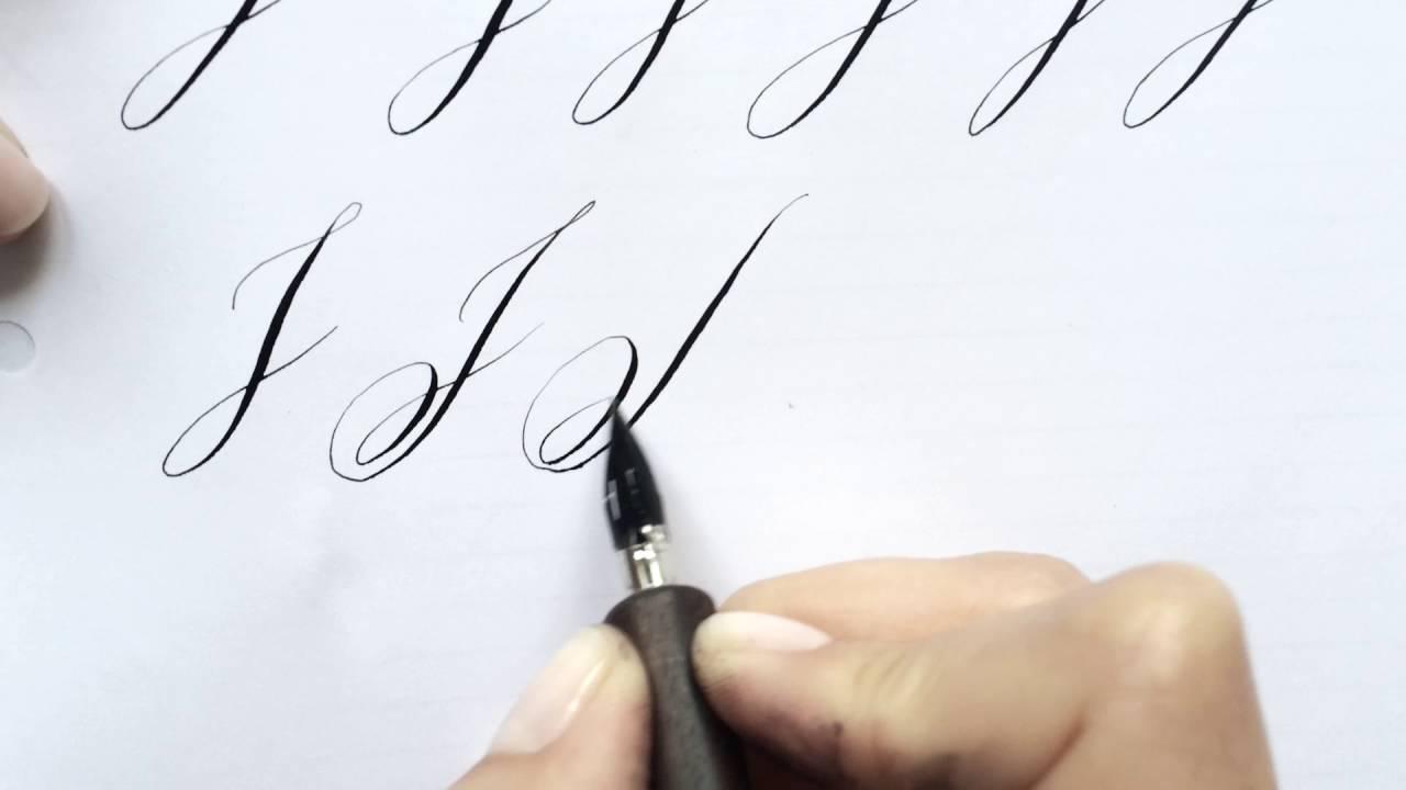 Modern Calligraphy Letter J Youtube