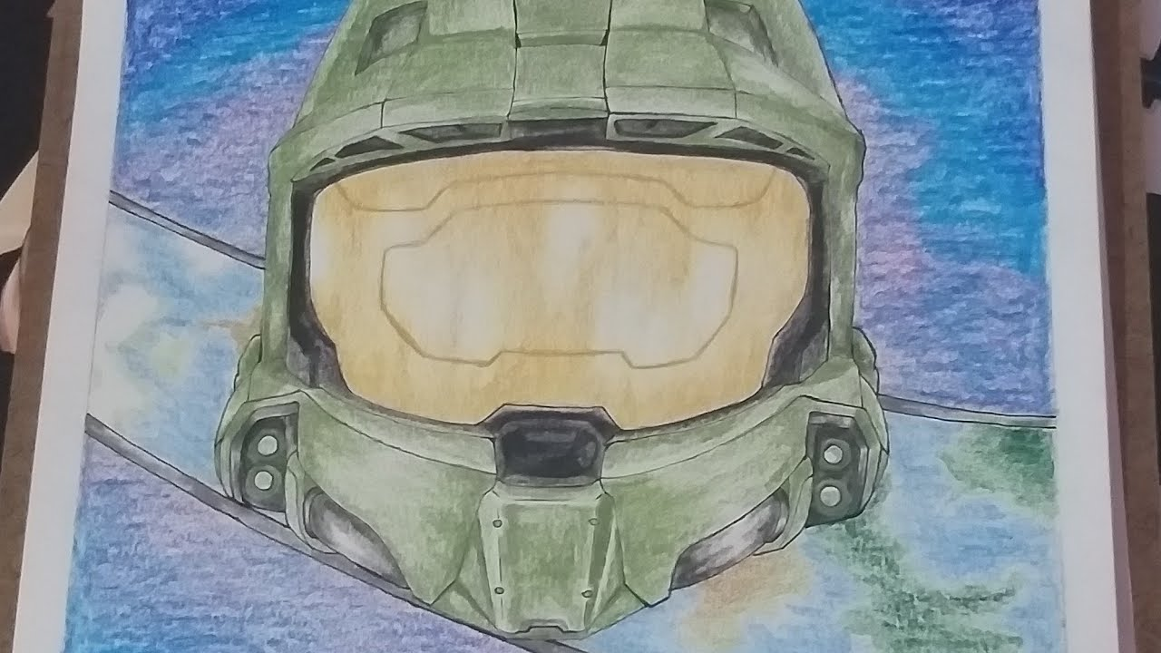 Drawing Master Chief Helmet Halo
