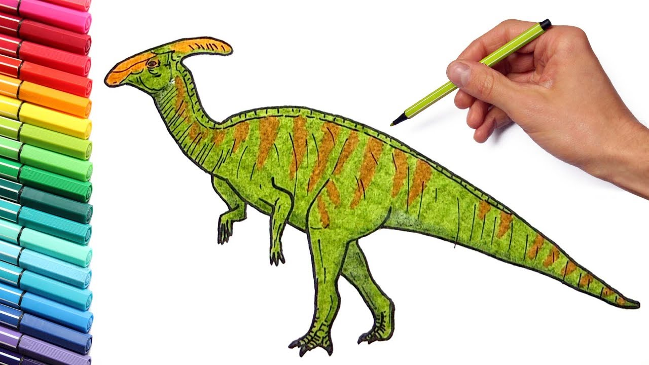 how to draw a parasaurolophus youtube