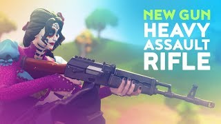 REACTING TO NEW HEAVY ASSAULT RIFLE (Fortnite Battle Royale)