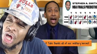DID THEY JUST SAY WARRIORS IN 5!?! STEPHEN A & MAX NBA FINALS PREDICTIONS REACTION!