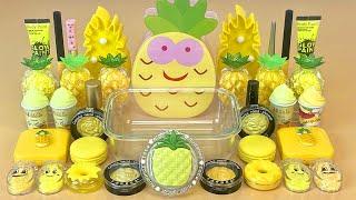 Pineapple Slime. 🍍 Fruit season. Series # 2. Mix cosmetics with slime. Satisfying slime.
